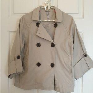 Tan Cropped Jacket